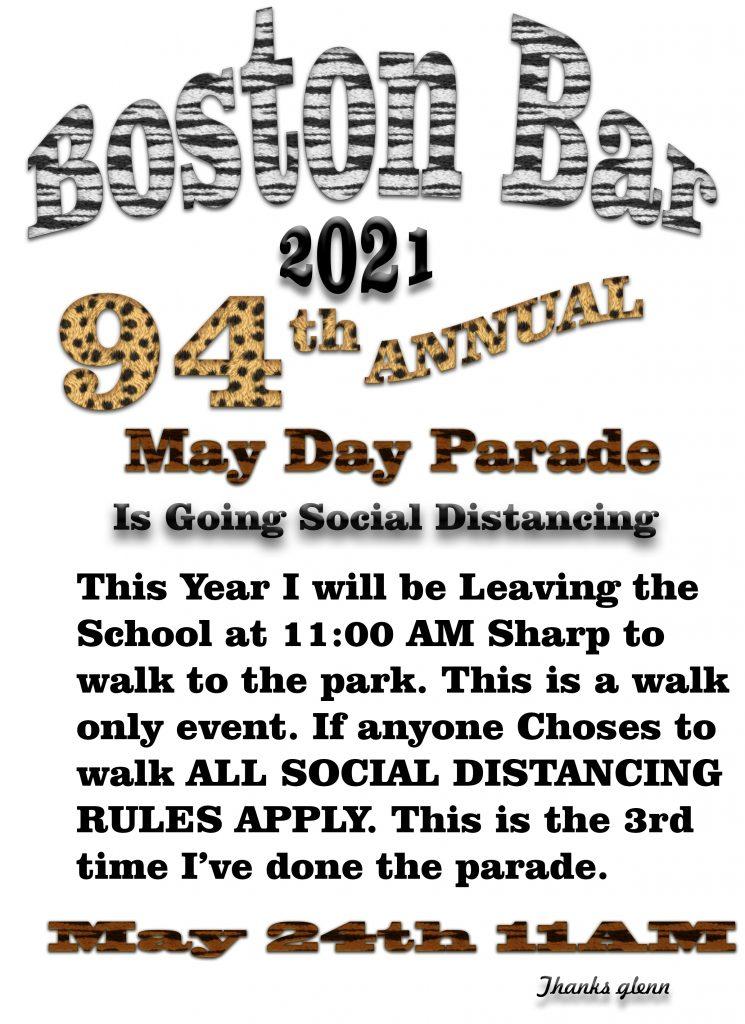 Poster for may day parade May 24 2021